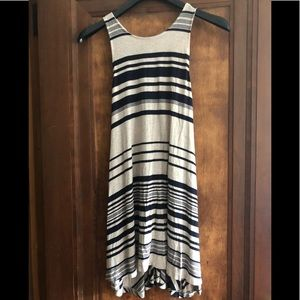 SOLEMIO Navy stripped racerback dress